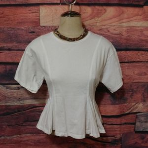 TopShop fitted cotton top blouse
